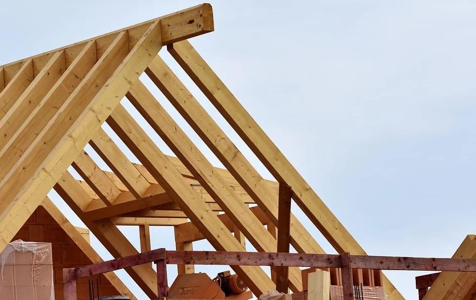 Abbinden und Aufrichten von Dachstühlen