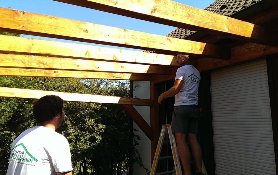 Konstruktion & Aufbau von Terrassenüberdachungen